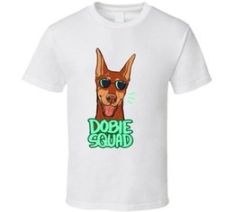 $enCountryForm.capitalKeyWord NZ - Doberman Pinscher T-shirt Dog Cartoon Tee Men Women Unisex Fashion tshirt Free Shipping Funny Cool Top Tee White