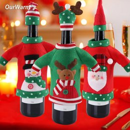 $enCountryForm.capitalKeyWord Australia - Ourwarm New Year Decoration Red Wine Bottle Cover Office Ugly Sweater Party Products Gifts Home Xmas Party Decor Supplies