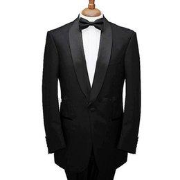 $enCountryForm.capitalKeyWord UK - Black Formal Wedding Groomsmen Tuxedos 2019 Shawl Lapel Custom Made Two Piece Business Party Men Suits (Jacket + Pants )