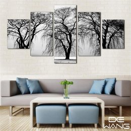 Fashion Photography Prints Australia - Black & White Photography,5 PiecesHome Decor HD Printed Modern Art Painting on Canvas (Unframed Framed)