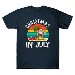 $enCountryForm.capitalKeyWord Australia - Christmas In July Santa Hawaiian T shirt Funny Summer Vacation Gift Tee Shirts