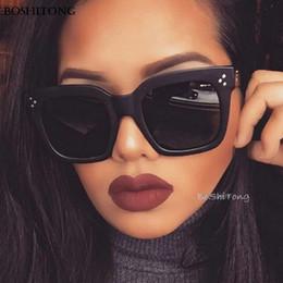441785fc285b Fashion Lady Flat Top Eyewear Lunette Femme Women Sunglasses Women Rivet Sun  Glasse