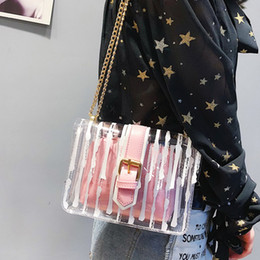 $enCountryForm.capitalKeyWord Australia - Women's Jelly Color Handbag Clear Purse Handbags PVC Letter Candy Color Crossbody Bag Lady Fashion
