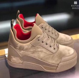 $enCountryForm.capitalKeyWord Canada - 2019 Red Bottom Men Sneakers Aurelien Flat Lovers Genuine Leather High Top Casual Flats Red Bottom Luxury Shoes Size:35-46 wqn50
