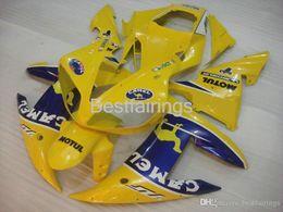 $enCountryForm.capitalKeyWord Australia - 100% Fitment. Free custom Injection molding fairing kit for YAMAHA R1 2002 2003 yellow blue fairings YZF R1 02 03 BD36