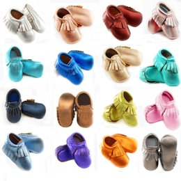 $enCountryForm.capitalKeyWord Australia - Fran 2019 Genuine Leather Toddler Baby Moccasins Soft Baby Shoes Boys First Walkers Anti-slip Infant Baby Girl Shoes Y19051504
