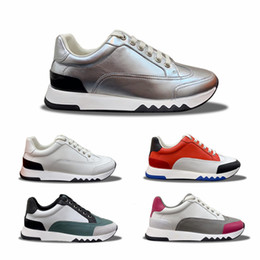 casual leather soled shoes women Australia - 2019 Designer Waterproof Wild Genuine Leather Sneaker Combination Soles Low Cut Men Women Original Packaging Casual Shoes Top Quality