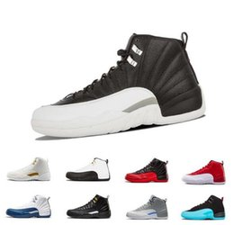 6613d953e166 12 Gym Red 12s College Navy mens basketball shoes Michigan WINGS bulls UNC Flu  Game the master black white taxi Sport shoe trainer sneakers