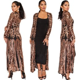 $enCountryForm.capitalKeyWord Australia - Women Fashion Spangle Cardigan Open Stitch Long Sleeve See-through Sequins Mesh Long Cardigan Bling Cloak Autumn and Spring Plus Size