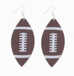 $enCountryForm.capitalKeyWord Australia - Free Shipping New Leather Print White basketball flag baseball Earring United And European Football Earring Jewelry