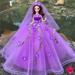 $enCountryForm.capitalKeyWord NZ - Barbie Doll Wedding Dress Gift Box Suit 3d Really Eye Single Princess Girl Doll Gift Gift Toys