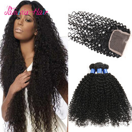 curly weave silk closure Australia - Unprocessed wholesale 8a kinky curly unprocessed brazilian virgin hair weave with free parting silk based closure
