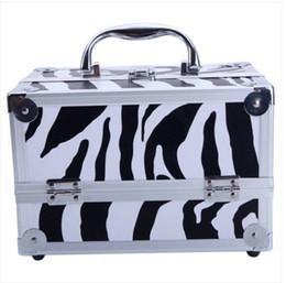 "Sale Cosmetics Box Australia - Sales!!! Wholesales Free shipping SM-2176 Aluminum Makeup Train Case Jewelry Box Cosmetic Organizer with Mirror 9""x6""x6"""
