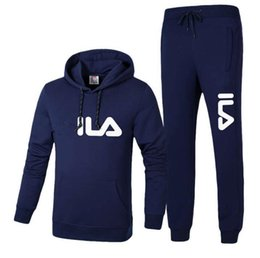 Ls Springs Australia - Brand Men hooded and pants Tracksuits 3 Colors Size L-4XL long sleeved Lover s sportswear fashion leisure Kids suits Spring and autu