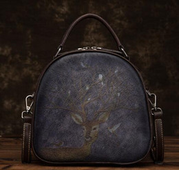 $enCountryForm.capitalKeyWord Australia - 19 free shipping European and American brand new embossed fashionable hand-carry leather retro hand-carry cross-body bag shopping bag