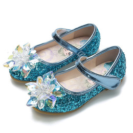 $enCountryForm.capitalKeyWord Australia - Cinderella crystals shoes baby girls sequins leather shoe au flower girl sparkly shoes for wedding formal occasions gift for kids