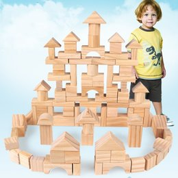$enCountryForm.capitalKeyWord Australia - Wooden Toys Heap Up 100 Pcs Environmental Protection Building Blocks Gift Box Set Log Toy Early Education Kid Souptoys 26oy N1