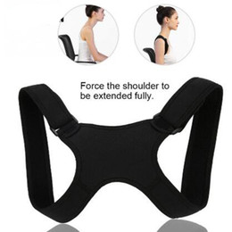Wholesale New Spine Posture Corrector Protection Back Shoulder Posture Correction belt Band Humpback Back Pain Relief Corrector Brace body shapper