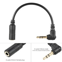 Connector Microphone Australia - Microphone Adapter Cable Smartphone microphone Converter to PC Computer DSLR Camera Adapter Connectors