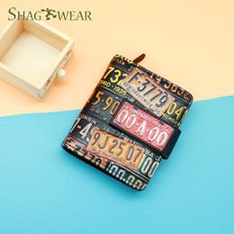 $enCountryForm.capitalKeyWord NZ - Shag Wear Multi-color License Plate Number Designer Small Clutch Wallet Female Short Wallet Women Coin Purse Customized Snap Fastener Wallet
