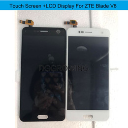 """Lcd Screen Touch Fix Australia - DG10 PCS Lot No Dead Pixel 5.2"""" Tested LCD Display+Touch Screen Assembly Replacement Fix For ZTE Blade V8 +Free Shipping"""