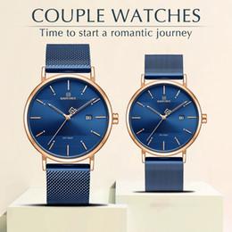 $enCountryForm.capitalKeyWord Australia - NAVIFORCE Package Set Watch Men Women Fashion Quartz Watches Ladies Mens Waterproof Wrist Watch for Couple Clock
