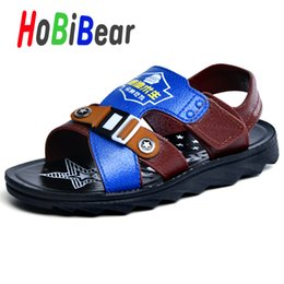 $enCountryForm.capitalKeyWord Australia - New Children Boy Sandal Hook & Loop Kids Slides Shoes Big Boy Beach Sandals Flat Heels Sandals for Boys Designer Brand Kids Shoe