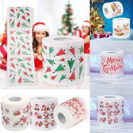 Wholesale Paper Rolls Australia - Santa Claus Christmas Home Household Supplies Toilet Paper Roll Living Room Decor Hot Cute Cartoon Pattern Paper c844