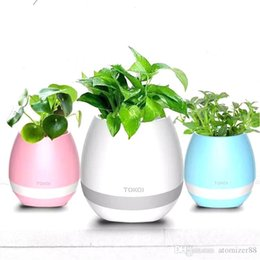 $enCountryForm.capitalKeyWord Australia - Newest smart Mini flower pots bluetooth speaker decoration with built in office decor planter colorful light creative music toy best gift