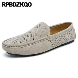 european style men casual shoes UK - british style slip on round toe breathable loafers flats men shoes brand casual runway Italy italian european suede designer