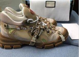 wholesale alta qualidade francês paris camurça homens de couro sapatos casuais de alta top moda tênis de luxo arena sapatos xyh18661 venda por atacado