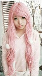 hot pink curly wig NZ - WIG FREE SHIPPING Hot heat resistant Party hair>>G.D.QHot Sell ! New Fashion Long Curly Cosplay Light Pink Party Wig Wigs