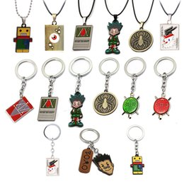 anime car accessories Canada - Anime x Keychain Gon Killua Zoldyck Kurapika Hisoka Figure Pendant Key Chain Rings Cosplay Accessories llaveros