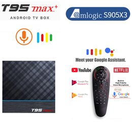 t95 android tv box UK - Smart TV Box Android 9.0 Amlogic S905X3 8K UHD T95 MAX Plus Set Top 4GB RAM 64GB ROM 2.4G&5G Wifi Youtube 4K Media Player