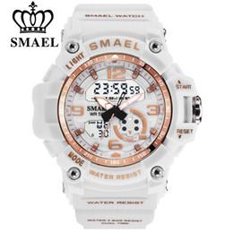 $enCountryForm.capitalKeyWord Australia - Smael Fashion Women Sport Watches Waterproof Ladies Student Multifunctional Wristwatch Led Digital Quartz White Watch Girl ClockMX190706