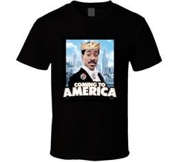 america jersey s UK - Coming To America Comedy 80's Movie T Shirt Tees Custom Jersey t shirt