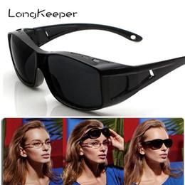 Sand SunglaSSeS online shopping - LongKeeper Polarized Windproof sand Sunglasses Men PC frame UV400 Women outdoor sports Sun Glasses Black glasses cover