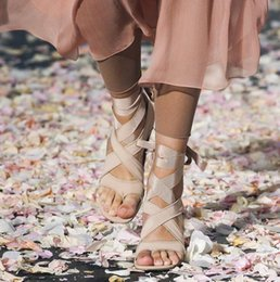 $enCountryForm.capitalKeyWord Australia - 2019 new fashion Fashion Runway Beige Black Strange Clear Heel Sandals Silk Bandage Flip Flop Abnormal Heels Gladiator Lace Up Sandals Party