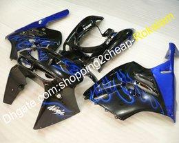 Zx9r 94 Fairing Kits Australia - Motorbike Body Kit For Kawasaki NINJA ZX 9R 94-97 ZX-9R ZX9R 9 R 1994 1995 1996 1997 Blue Flame Motorcycle Bodywork Fairing Set