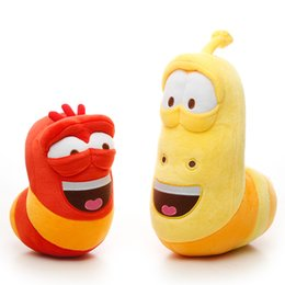 eco wood toys UK - 2pcs lot Fun Insect Slug Creative Larva Plush Toys Cute Stuffed Worm Dolls For Children Birthday Gift Y19070103