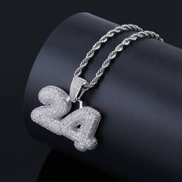 $enCountryForm.capitalKeyWord NZ - Factory Bottom Price Bubble Number Pendant Necklace Hip Hop Bling Jewelry CZ Diamond Micro Paved Pendants & Necklaces Bijoux Free Shipping