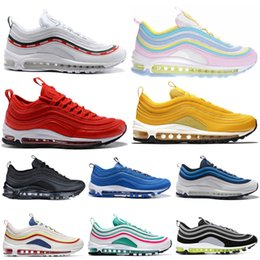 summer mens golf shoes NZ - 2019 men running shoes top quality undefeated white gold silver persian violet Mustard Rainbow mens trainers fashion sports sneakers 36-45