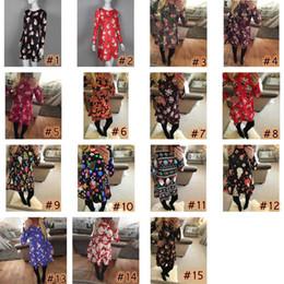 Club swing online shopping - Long Sleeve Santa Claus Dresses Gift Christmas Xmas Flared Dress for Women girls swing Casual Mini Dress home clothing ZZA1491