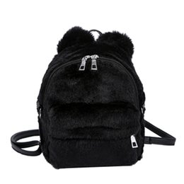 38ac161c38 Elegant School Bags UK - 2018 Wobag Women Plush Mini Backpack Girl Students  Shoulder School Bag
