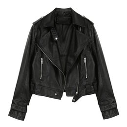 ladies leather jackets Australia - 2019 Ladies Leather Jackets Spring Autumn Moto & Biker Faux Pu Leather Jacket Women Short Coat Motorcycle Biker Jacket Women