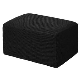 chair feet protectors Canada - Stretch Rectangle Ottoman Cover Stool Cover Slipcover Protector Spandex Elastic Footstool Sofa Slip Cover For Foot Rest Stool
