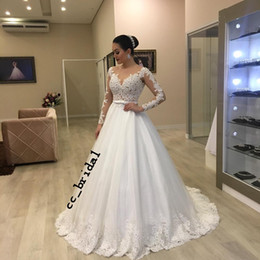 bc11665bf7 Victorian Gothic Country Wedding Dresses 2019 Sexy Sheer Lace Applique  Sweep Train Beach Bridal Gowns New Plus Size Vestidos De Novia
