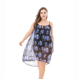 $enCountryForm.capitalKeyWord UK - New Size Chiffon Printed Dress for Women Bikini Beach Blouse