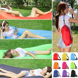 Wholesale Lounge Sleep Bag Lazy Inflatable Beanbag Air Sofa Chair Living Room Bean Bag Cushion Outdoor Self Inflated Beanbag Furniture kids toys
