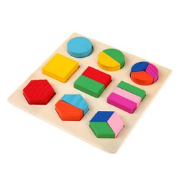 $enCountryForm.capitalKeyWord UK - 15PCS Kids Learning Montessori Wooden Math Toys Puzzle Toy For Children Educational Equipment Resources Geometry Gifts AIJILE
